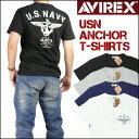 アビレックス AVIREX メンズ Vネック 半袖Tシャツ/USN ANCHOR 6173351 プレゼント ギフト