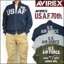 アビレックス AVIREX メンズ アメリカ空軍70周年記念モデル サーモライト スタンドジップ スウェット USAF 70th ANNIVERSARY 6173436 【送料無料】