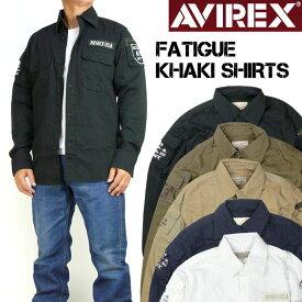 AVIREX アビレックス ファティーグ カーキシャツ FATIGUE KHAKI SHIRTS ミリタリー 長袖シャツ メンズ 6175140
