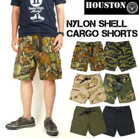 HOUSTON ヒューストン メンズ ショートパンツ NYLON SHELL CARGO SHORTS ナイロンシェル カーゴショーツ ミリタリーショートパンツ 送料無料 1686