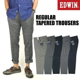 セール EDWIN エドウィン メンズ トラウザー KHAKIS レギュラー テーパード トラウザー ストレッチ アンクル丈 トラウザーパンツ 9分丈 チノパンツ K2033