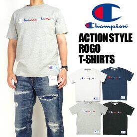 セール Champion チャンピオン メンズ Tシャツ マルチカラーロゴ刺繍 半袖Tシャツ アクションスタイル プレゼント ギフト C3-H371