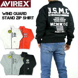 AVIREX アビレックス ウインドガード スタンドジップシャツ WIND GUARD STAND ZIP SHIRT U.S.M.C. AVIREX MILITARY CAMP AMC メンズ ミリタリージャケット 6193480