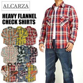 ALCARZA アルカルザ メンズ ネルシャツ ヘビーフランネル チェックシャツ 69-900 69-901