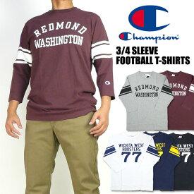 Champion チャンピオン 7分袖 フットボールTシャツ メンズ C3-Q428