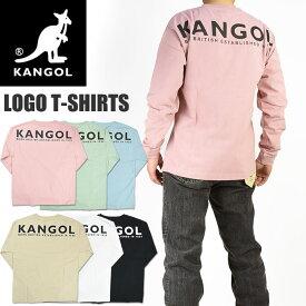 KANGOL カンゴール ロゴ刺繍 バックプリント 長袖Tシャツ メンズ レディース ユニセックス C5121N