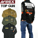 AVIREX アビレックス マルチ ファンクション シャツ MULTI FUNCTION SHIRTS TOP GUN 長袖シャツ ミリタリー メンズ 6105138