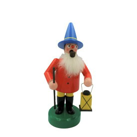 煙出し人形 ランタンを持つ男 16.5cm/ドイツ ザイフェン エルツ工芸品 インテリア インテリア雑貨 お香 ドイツ伝統 おしゃれ
