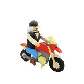 煙出し人形 バイク 17.5cm/ドイツ ザイフェン エルツ工芸品 インテリア インテリア雑貨 お香 ドイツ伝統 おしゃれ