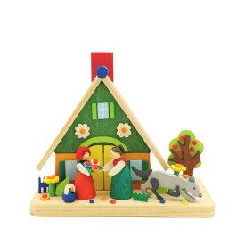 煙出し人形 お花の家 11cm/ドイツ ザイフェン エルツ工芸品 インテリア インテリア雑貨 お香 ドイツ伝統 おしゃれ