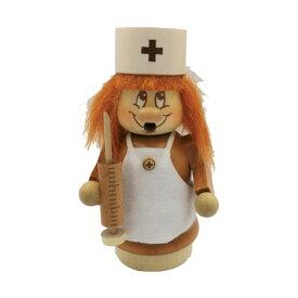 煙出し人形 小人の看護師 14cm/ドイツ ザイフェン エルツ工芸品 インテリア インテリア雑貨 お香 ドイツ伝統 おしゃれ