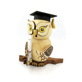 煙出し人形 ふくろう 18cm/ドイツ ザイフェン エルツ工芸品 インテリア インテリア雑貨 お香 ドイツ伝統 おしゃれ