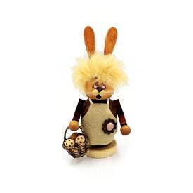 煙出し人形 イースター・ウサギ 17cm/ドイツ ザイフェン エルツ工芸品 インテリア インテリア雑貨 お香 ドイツ伝統 おしゃれ