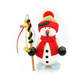 煙出し人形 冬を告げるスノーマン 20cm/ドイツ ザイフェン エルツ工芸品 インテリア インテリア雑貨 お香 ドイツ伝統 おしゃれ