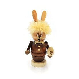 煙出し人形 シニカルなウサギ 17cm/ドイツ ザイフェン エルツ工芸品 インテリア インテリア雑貨 お香 ドイツ伝統 おしゃれ