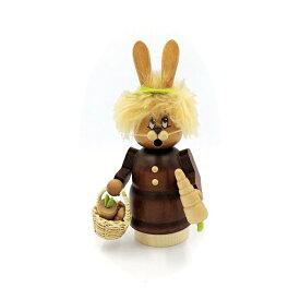 煙出し人形 ニンジンを持ったウサギ 16.5cm/ドイツ ザイフェン エルツ工芸品 インテリア インテリア雑貨 お香 ドイツ伝統 おしゃれ
