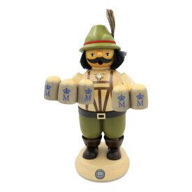 煙出し人形 宿屋の主人 21cm/ドイツ ザイフェン エルツ工芸品 インテリア インテリア雑貨 お香 ドイツ伝統 おしゃれ