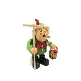 煙出し人形 農夫 18cm/ドイツ ザイフェン エルツ工芸品 インテリア インテリア雑貨 お香 ドイツ伝統 おしゃれ