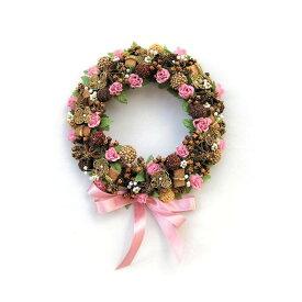 バラとスターアニスのリース 中/スパイス ゲビンデ リース 装飾 飾り 香り ザルツブルグ 伝統工芸 木の実 ビーズ ドライフラワー インテリア