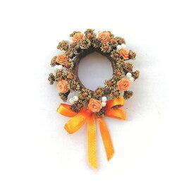 バラとクローブのリース オレンジ/スパイス ゲビンデ リース 装飾 飾り 香り ザルツブルグ 伝統工芸 木の実 ビーズ ドライフラワー インテリア