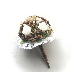 ばらとブリヨンのスパイスブーケ ミニ/スパイス ゲビンデ リース 装飾 飾り 香り ザルツブルグ 伝統工芸 木の実 ビーズ ドライフラワー インテリア