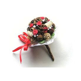 スパイスブーケ スターアニス/スパイス ゲビンデ リース 装飾 飾り 香り ザルツブルグ 伝統工芸 木の実 ビーズ ドライフラワー インテリア