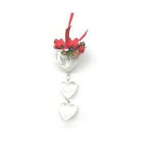 アクリル3連ハート 飾り付き/スパイス ゲビンデ リース 装飾 飾り 香り ザルツブルグ 伝統工芸 木の実 ビーズ ドライフラワー インテリア