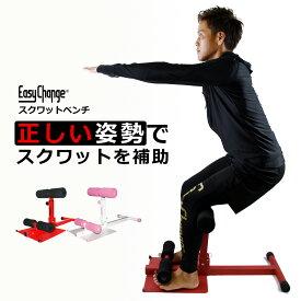 スクワットベンチ 特許庁登録商品 EasyChange 腹筋マシン シットアップベンチ ストレッチ トレーニング 筋トレ ダイエット エクササイズ 美脚 美尻 足痩せ ヒップアップ 太もも ふくらはぎ お腹 腹筋 体幹トレーニング スクワットトレーニング