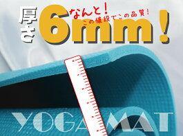 【専用メッシュケースをプレゼント!】厚さ6mmヨガマットクッション性抜群!!(ヨガマット6mmyogamatトレーニングマット)