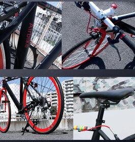 【安心の日本メーカー】クロスバイクシマノ製7段変速エアロフレーム採用700c(約27インチ)自転車ママチャリ通勤通学街乗りAirbike【送料無料】