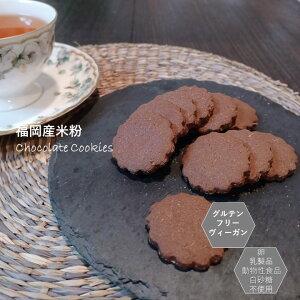 米粉チョコクッキー グルテンフリー ビーガン 米粉100% チョコ クッキー 小麦粉 卵 乳製品 動物性油 不使用 アレルギー対応 ダイエット ヴィーガン 授乳中 ホワイトデー