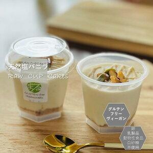 グルテンフリー ビーガン 塩バニラRAWCUPケーキ 小麦粉・卵・乳製品・動物性不使用 アレルギー対応 ダイエット スイーツ ヴィーガン