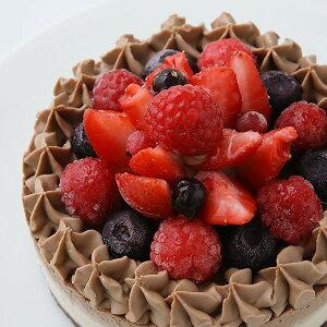 お祝い 誕生日 チョコRAWケーキ(ホールサイズ18cm)グルテンフリー、小麦粉・卵・乳製品・動物性不使用。ローカカオパウダー お誕生日 記念日 アレルギー対応 ダイエット スイーツ バレ