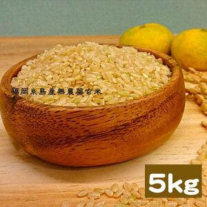 福岡県 糸島 無農薬玄米 5kg ヒノヒカリ