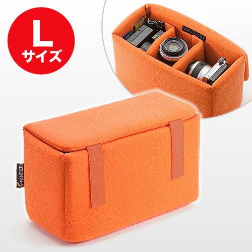 【割引クーポン配布中】【販売実績1200個突破】【送料無料】【オレンジ】一眼レフ対応 インナーカメラバッグ(Lサイズ) そのままバッグに入れられるインナーバッグ/インナーケース/ソフトクッションボックス NEO2-BG019L【あす楽】