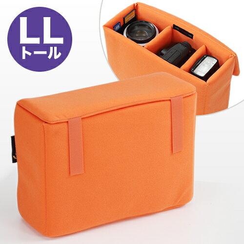 【送料無料】一眼レフ インナーバッグ カメラバッグ LL トール オレンジ 間仕切り付き ( ミラーレス インナーケース レンズ 収納 インナーカメラバッグ ) NEO2-BG019L2 【あす楽】