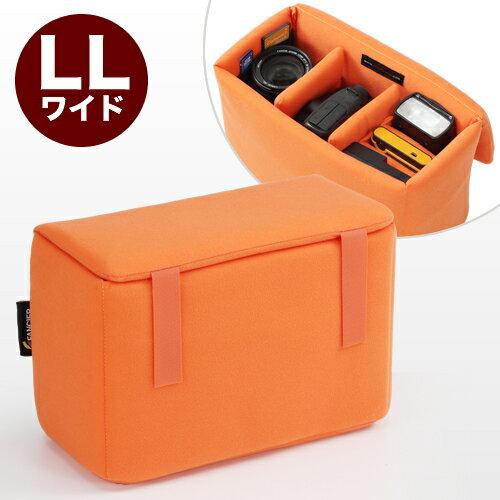 【割引クーポン配布中】一眼レフ インナーバッグ カメラバッグ LL ワイド オレンジ 間仕切り付き (ミラーレス インナーケース レンズ 収納 インナーカメラバッグ) NEO2-BG019L3 |カメラ カメラバック 一眼レフカメラ バック カメラケース【あす楽】