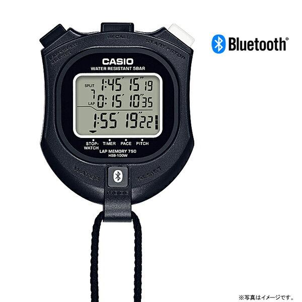 HSB-100W-1JH カシオ計算機 CASIO iPhone対応ストップウオッチBluetooth搭載◆