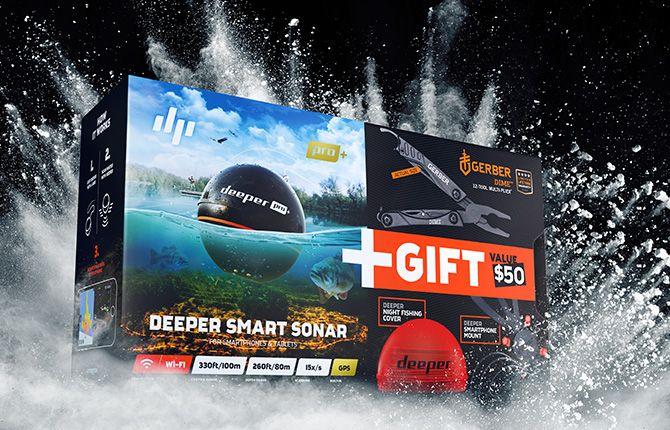 【数量限定】 4779032950473 Deeper Deeper PRO+ スマートソナー ディーパー スペシャルサービスセット 魚群探知機 限定商品