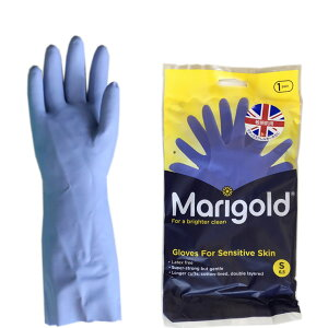 MG-003S Marigold マリーゴールド グローブ センシティブ 敏感肌用ゴム手袋 S ラテックスフリー ニトリルゴム製 全長335mm 手のひらまわり195mm 中指の長さ75mm 【あす楽/土日祝対象外】