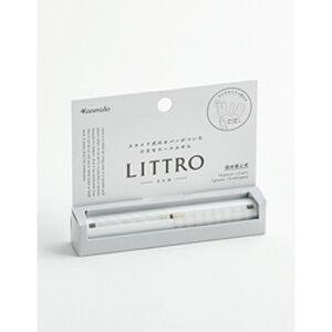 【最大600円クーポン配布】LT-1002 カンミ堂 スライド式カバー付きロールふせん リトロ PATTERN グレイッシュ