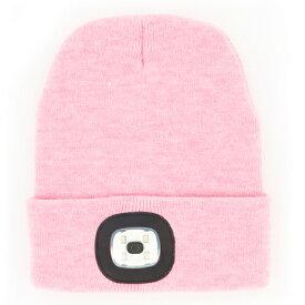 NIGHT SCOUT ナイト スカウト LED Beanie Pink アクリルニット帽 ピンク LEDライト ニット帽 メンズ レディース USB充電式 防寒 LEDライト付き ランニング キャンプ アウトドア ウォーキング ヘッドライト KNS0006 【あす楽/土日祝対象外】