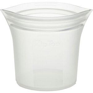 ZipTop ジップトップ ショートカップ フロスト 05021336 保存容器 キッチン アウトドア 冷凍 冷蔵 電子レンジ 食洗機 対応 収納ケース 小物入れ メイクポーチ フルーツ 野菜 果物 食材 食品 シリ