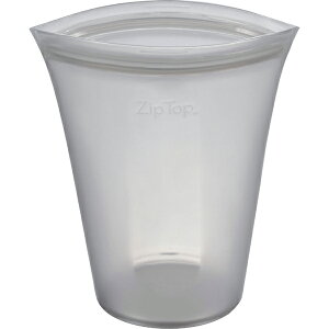 ZipTop ジップトップ カップ L グレー 05021349 保存容器 キッチン アウトドア 冷凍 冷蔵 電子レンジ 食洗機 対応 収納ケース 小物入れ メイクポーチ フルーツ 野菜 果物 食材 食品 シリコン Z-CUPL-0