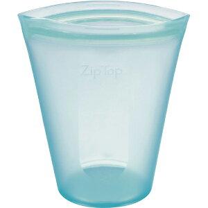 ZipTop ジップトップ カップ M ティール 05021338 保存容器 キッチン アウトドア 冷凍 冷蔵 電子レンジ 食洗機 対応 収納ケース 小物入れ メイクポーチ フルーツ 野菜 果物 食材 食品 シリコン Z-CUP