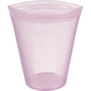 ZipTop ジップトップ カップ M ラベンダー 05021337 保存容器 キッチン アウトドア 冷凍 冷蔵 電子レンジ 食洗機 対応 収納ケース 小物入れ メイクポーチ フルーツ 野菜 果物 食材 食品 シリコン Z-