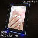 【楽天ランキング1位】LED ライトパネル LED LIGHT PANEL A4 サイズ 青色LED搭載 省電力 エコ 看板 メニュー ウェルカムボード あす楽 …