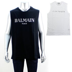 バルマン BALMAIN ロゴプリントスリーブレスTシャツ RH11170 【後払い可能】 【キャッシュレス対応】