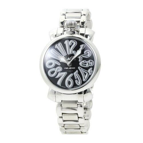 ガガミラノ 6020.1 35mm レディース ブラック×シルバー マヌアーレ 時計/ウォッチ