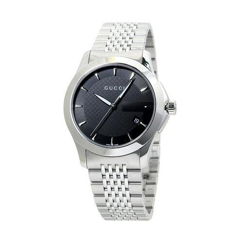 グッチ GUCCI YA126402 G-タイムレス メンズ ブラック 時計/ウォッチ